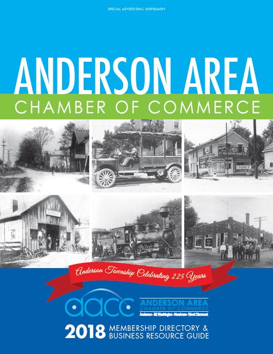 Anderson Area Chamber of Commerce Magazine Cover Cincinnati Beechmont Business Theater Economic Development