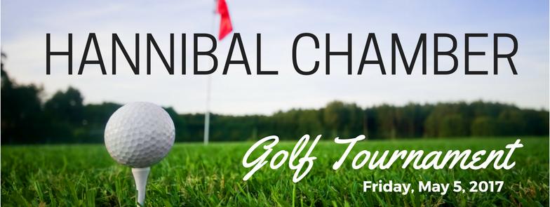 2017 Hannibal Chamber Golf Tournament Logo