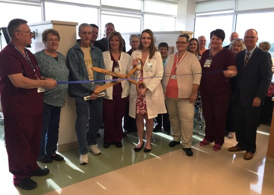 Hannibal Regional Healthcare System new infusion center for cancer treatment and hematology holds a ribbon cutting in Hannibal Missouri