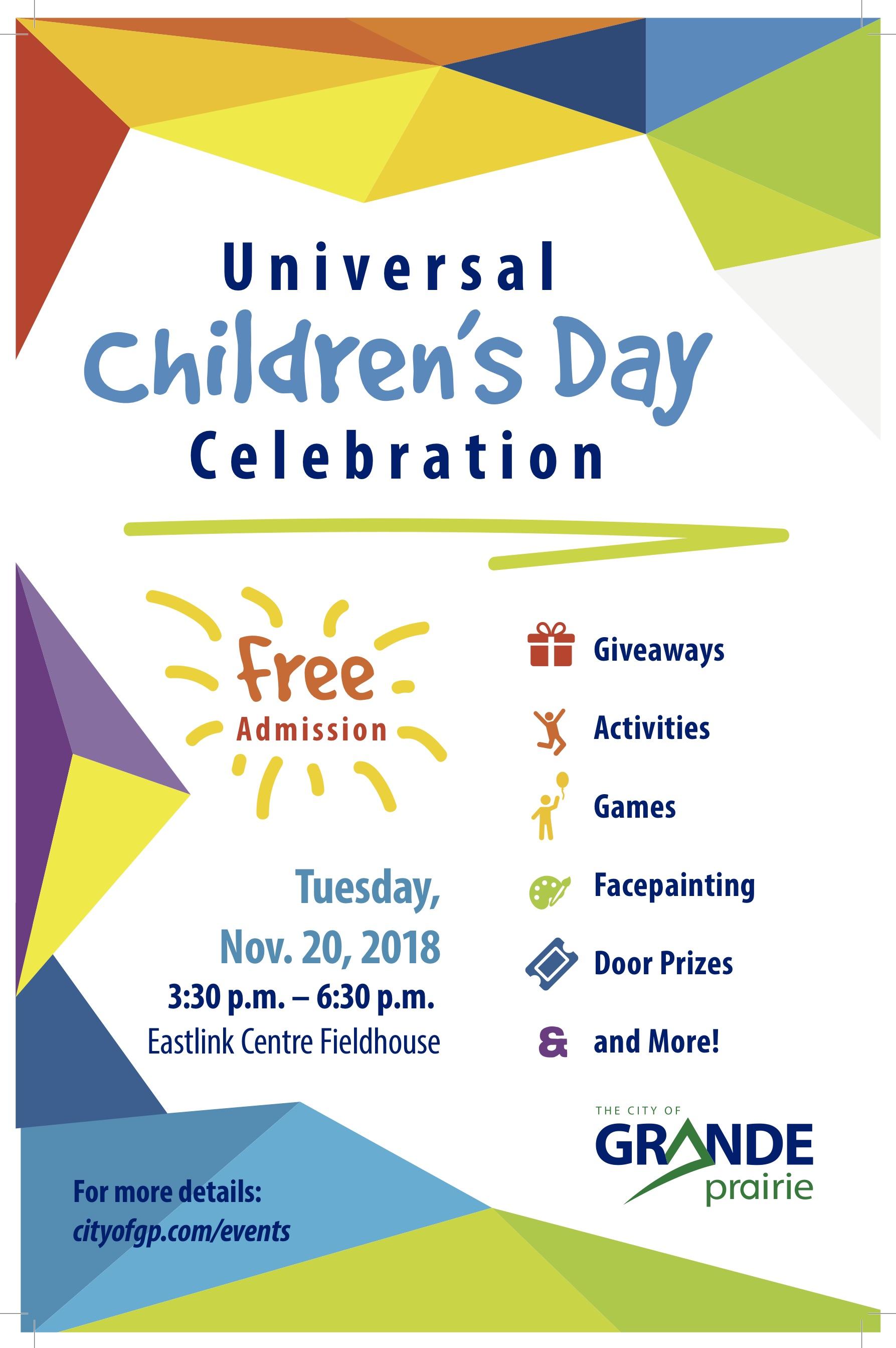 Universal Children S Day Celebration Nov 20 2018 Grande Prairie