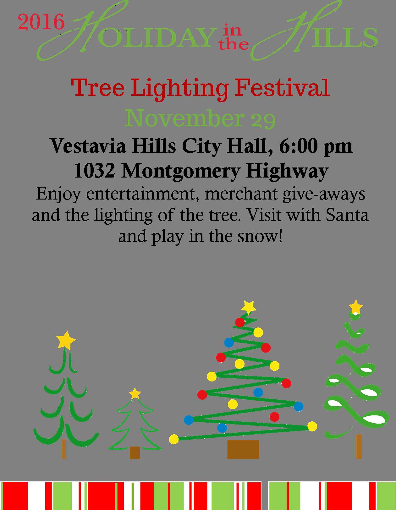 Holiday in the hills tree lighting festival vestavia for Ammons plumbing