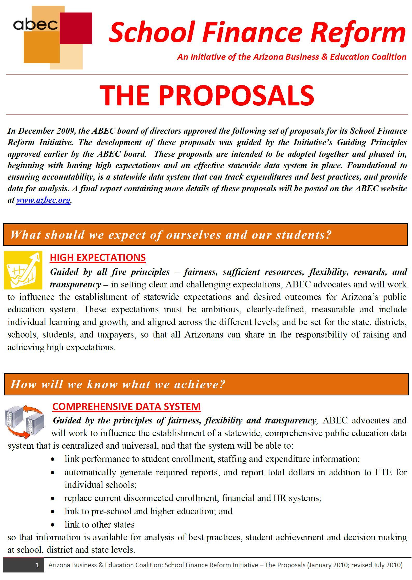 ABEC SFR Proposals Rpt Image
