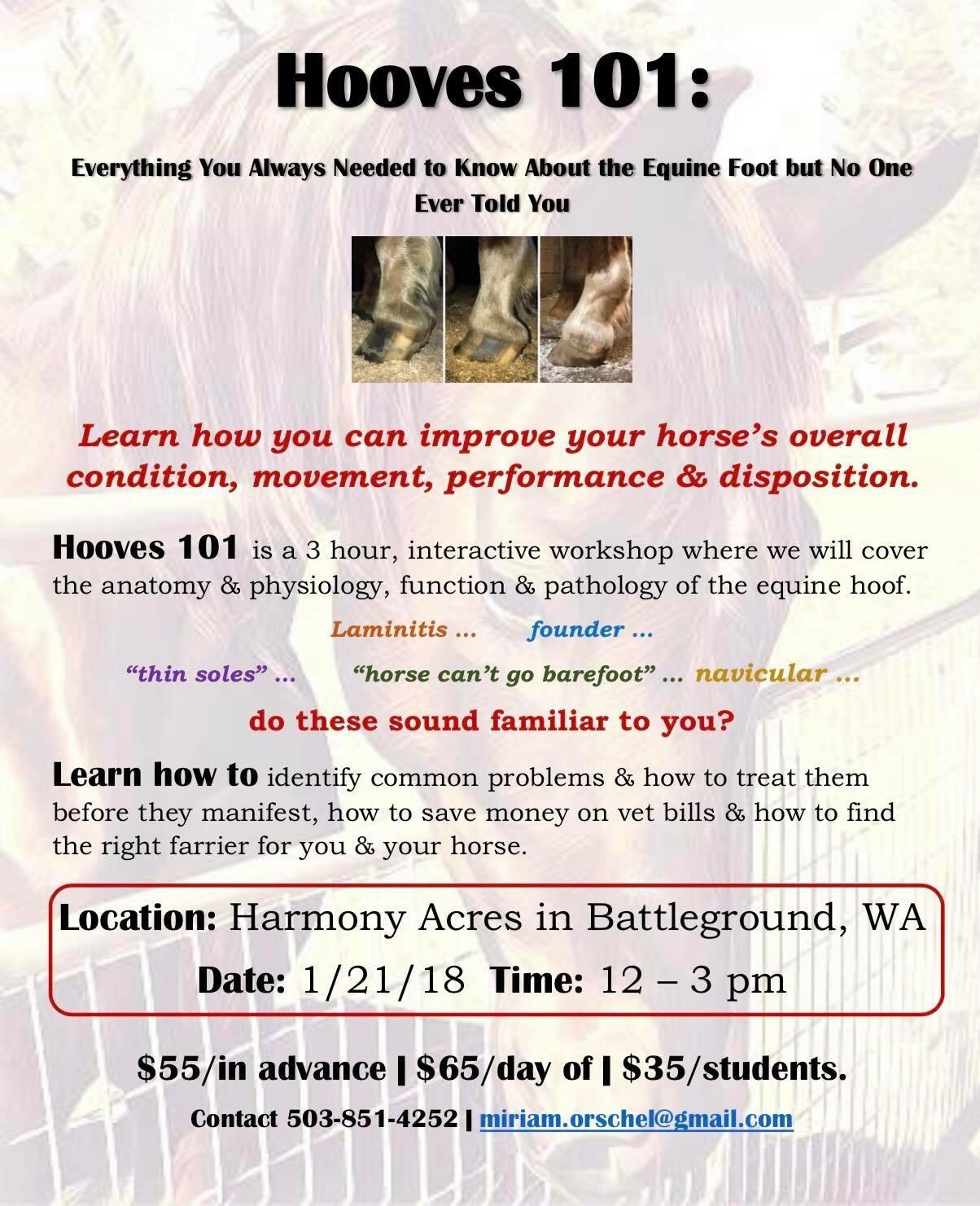 News Release: Hooves 101 - Oregon Horse Country/Oregon Horse Council ...