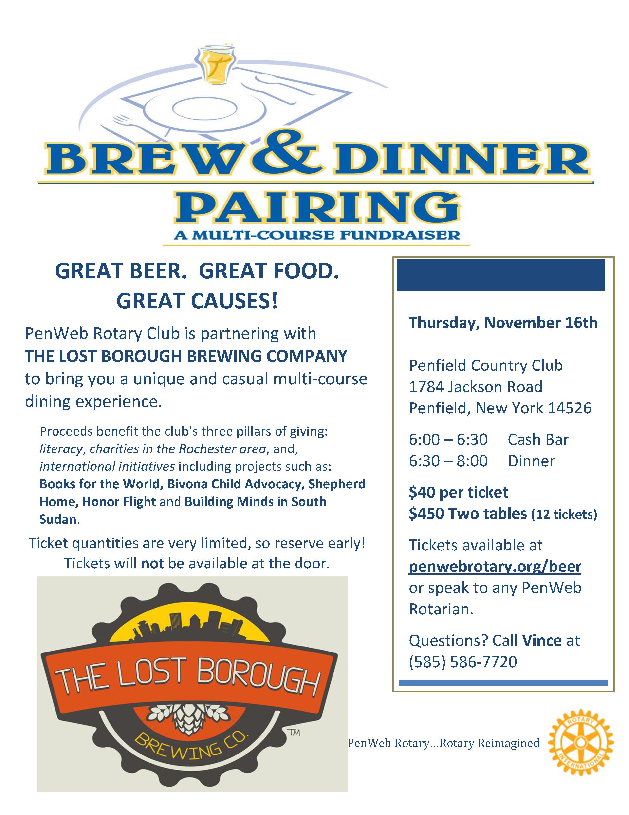 Brew & Dinner Flyer