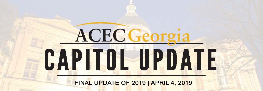 ACEC Georgia Capitol Update 2019: Issue 10