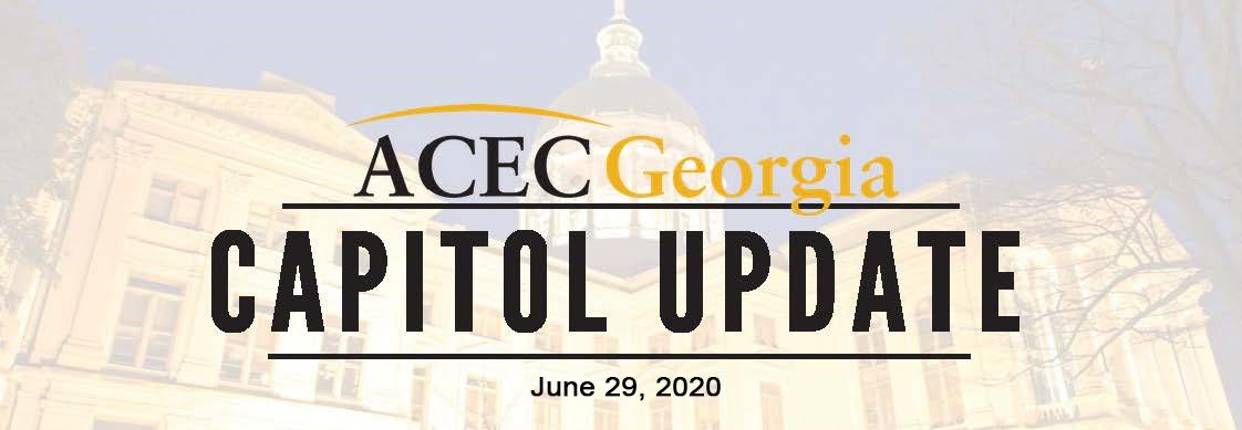 ACEC Georgia Capitol Update 2020: June 29, 2020
