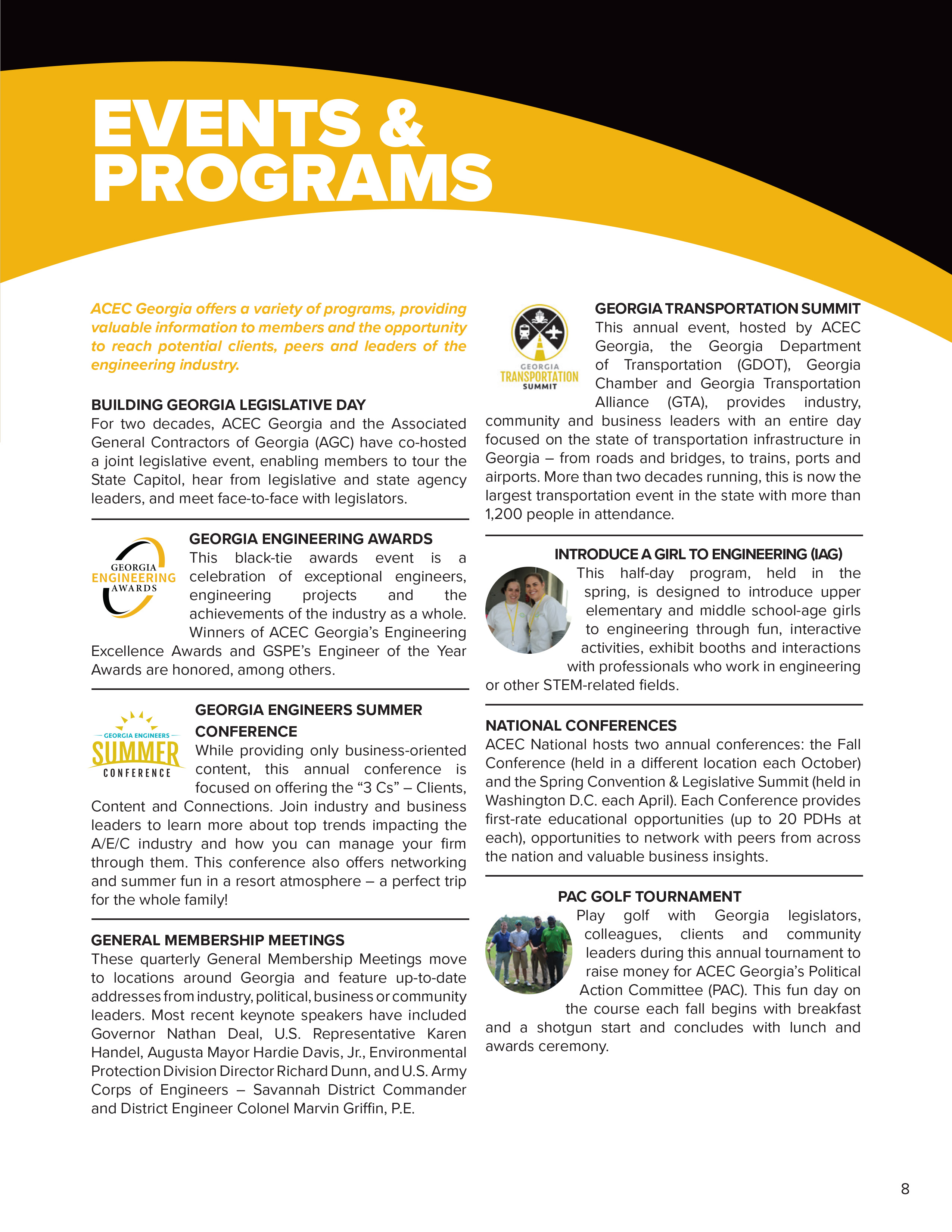 overview of annual events american council of engineering