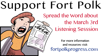 Spread the word on supporting Fort Polk