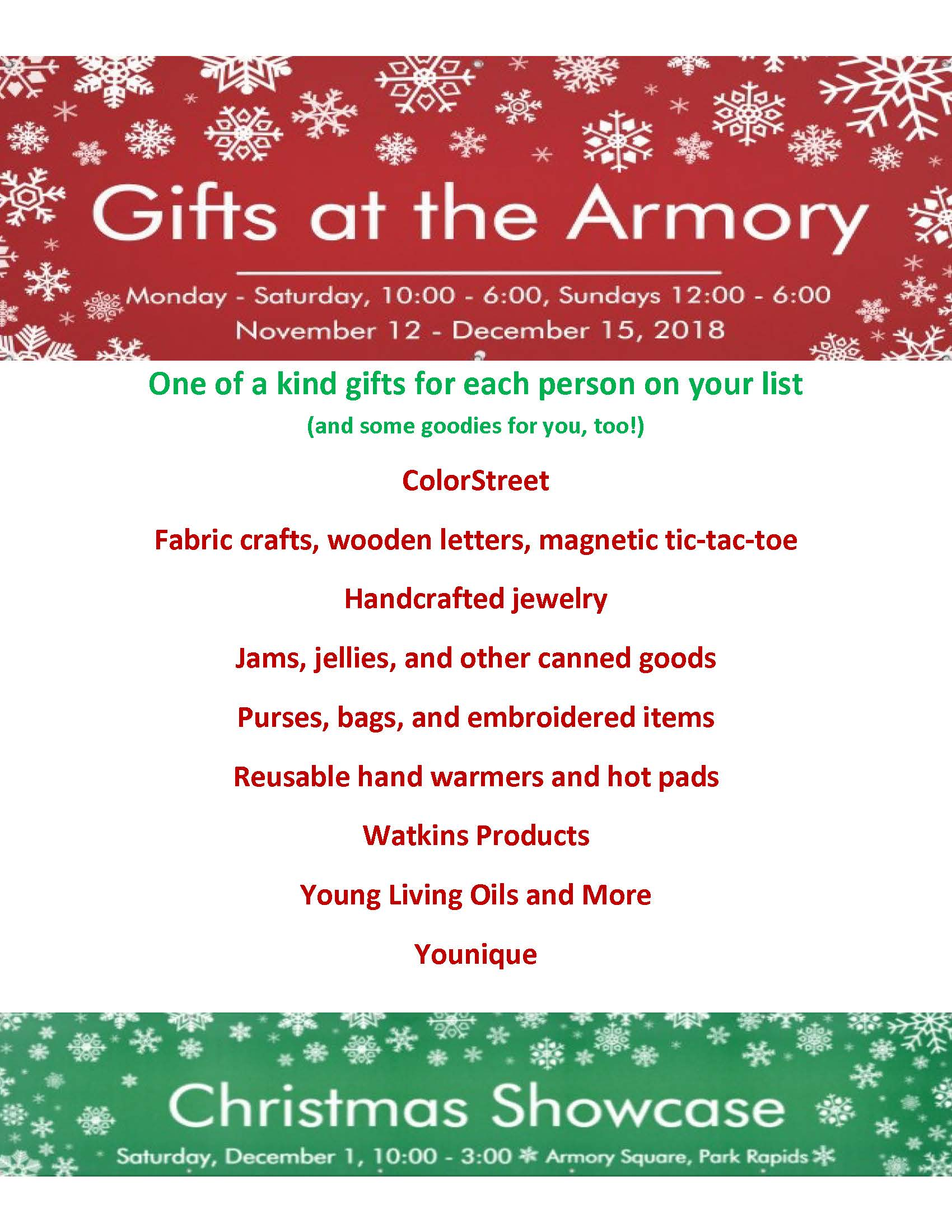 size 40 131e1 f2187 Gifts at the Armory November 12 - December 15 - Chamber of ...