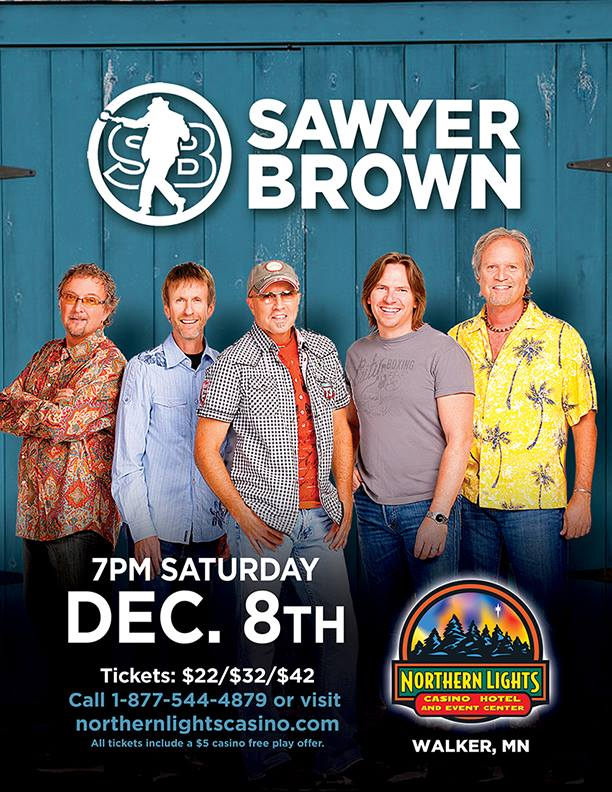 Sawyer Brown Is Coming To Northern Lights Casino.