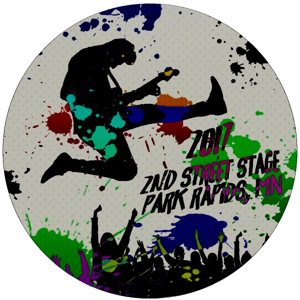 2nd Street Stage winning button design - click for a larger view!