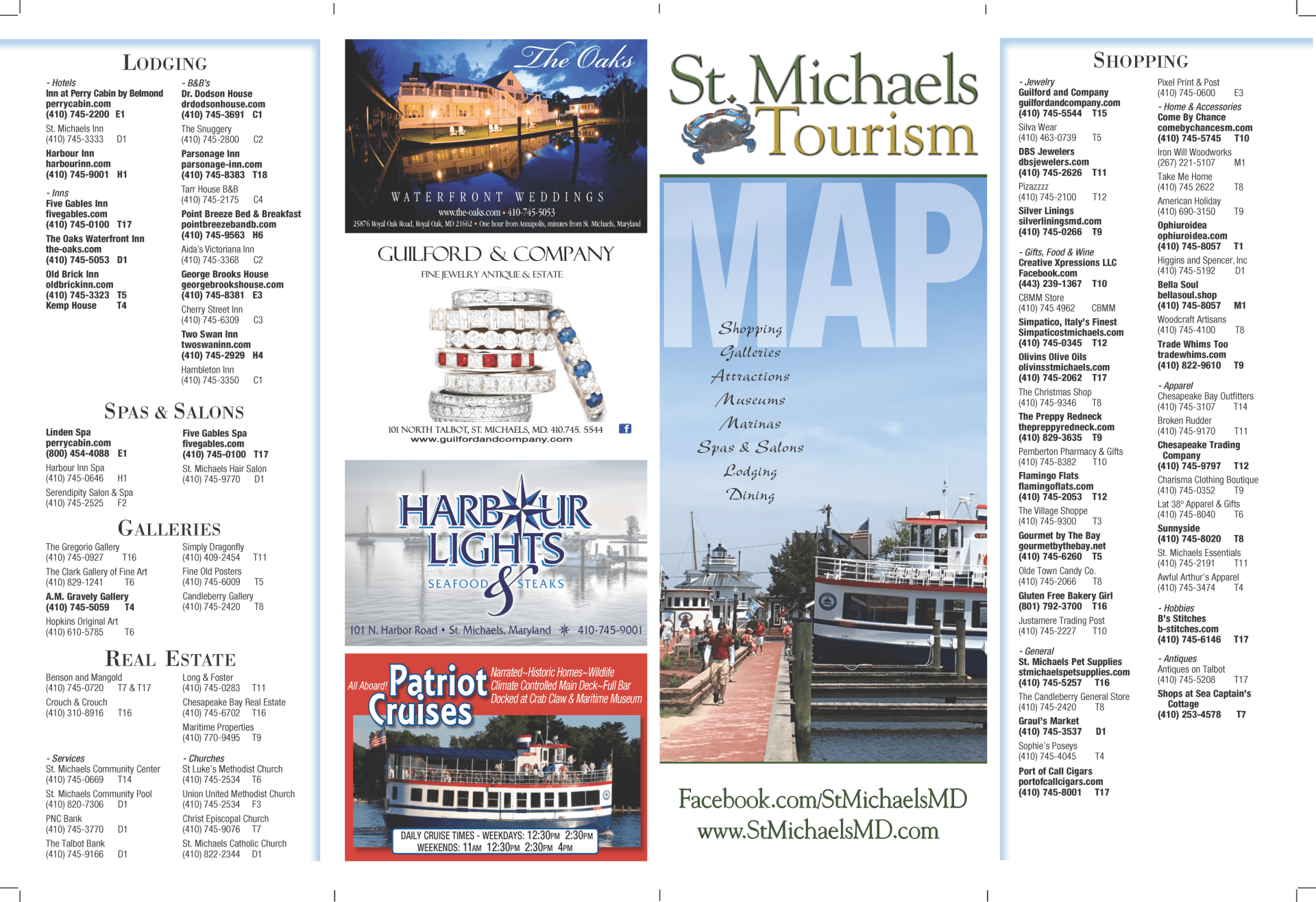 Map of St  Michaels - St  Michaels Tourism, MD