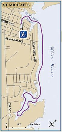 St Michaels Harbor Kayaking Map