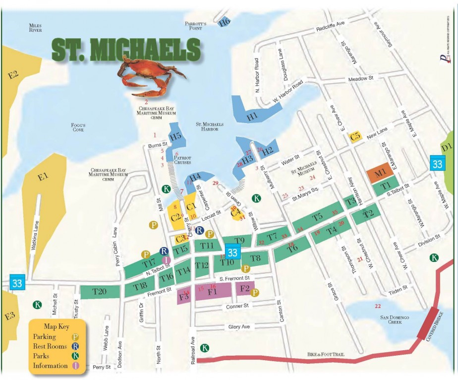 St Michaels walking map image