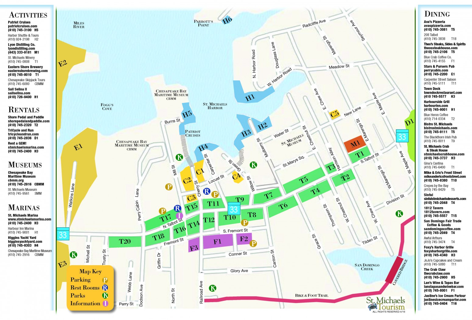 Map of St Michaels St Michaels Tourism MD