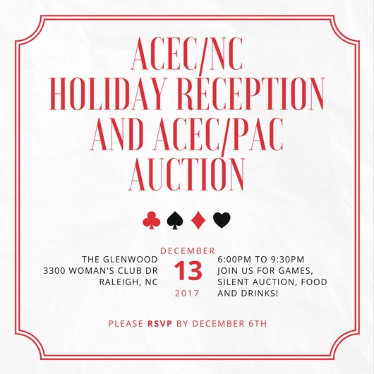 ACEC/NC Holiday Reception and ACEC/PAC Auction
