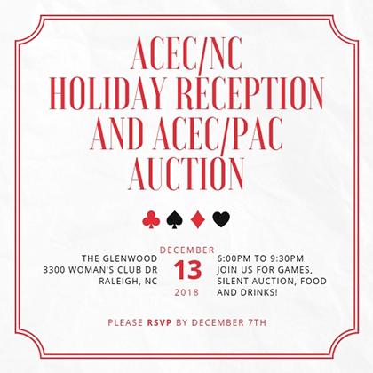 Holiday Reception and ACEC/PAC Auction - Casino Night