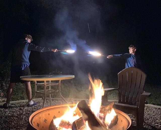 Famiy fun around the campfire