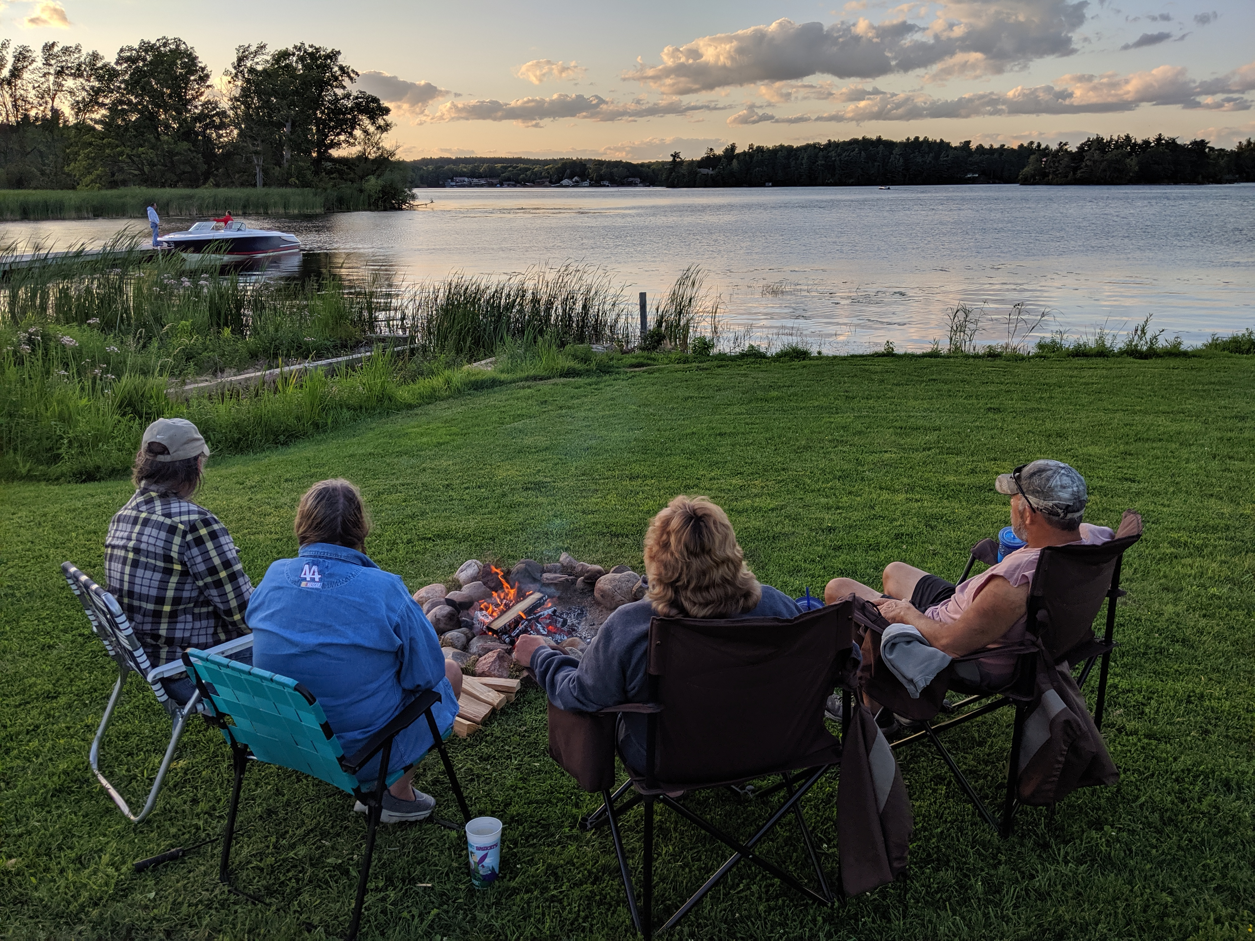 Campfire along the St. Lawrence River
