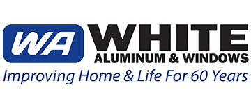 White Aluminum & Windows Logo