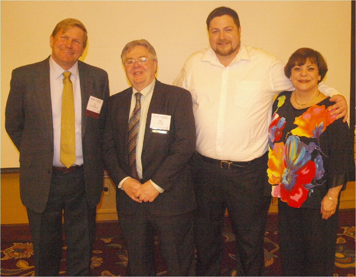 The New England Association of Amusement Parks and Attractions (NEAAPA) installed the following officers at its recent annual meeting (from the left): President Eric Anderson, Quassy Amusement & Waterpark; First Vice President Dave Oberlander, Centerplate; Second Vice President, Chris Nicoli, Canobie Lake Park; Treasurer, Charlene Conway, Carousel Family Fun Centers