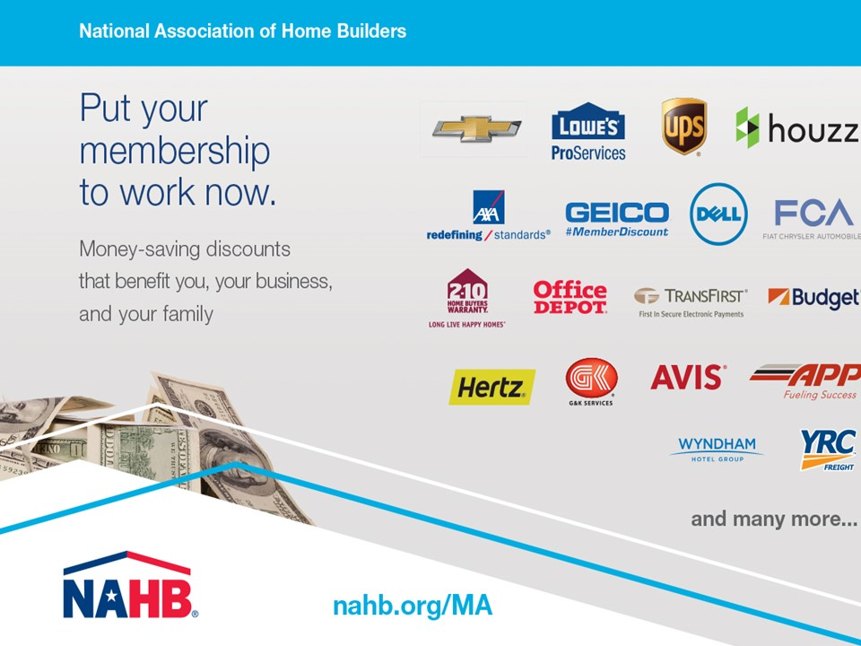 Put your membership to work with NAHB savings and discount parnters.