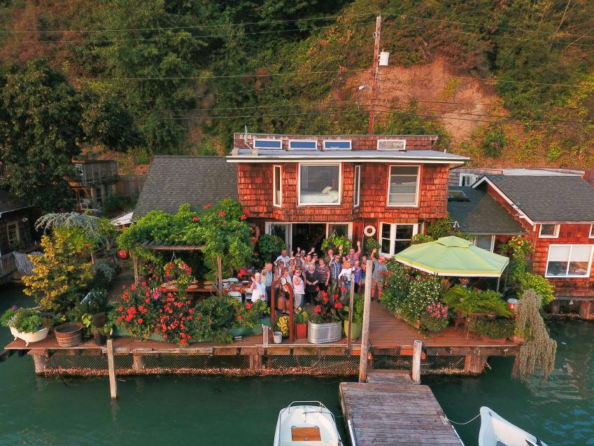 Design Professionals Council potluck at Barb Berntsen's waterfront home