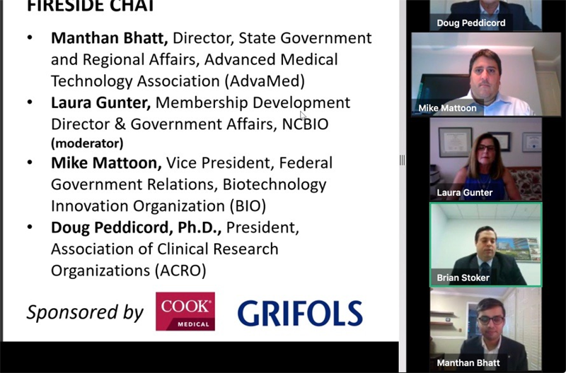 2020 NCBIO Annual Meeting Fireside Chat slide