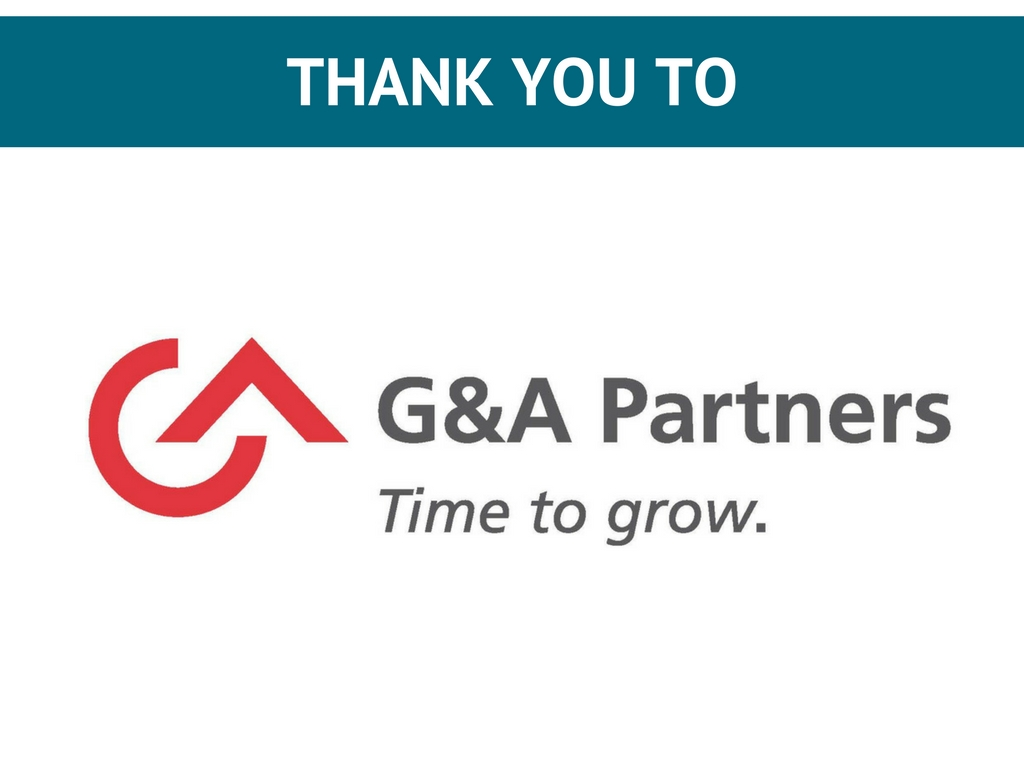 Thank you to G&A Partners