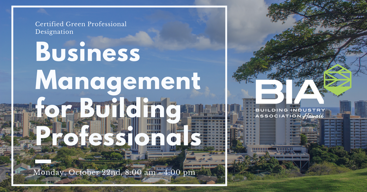 Business Management for Building Professionals NAHB Designation Course