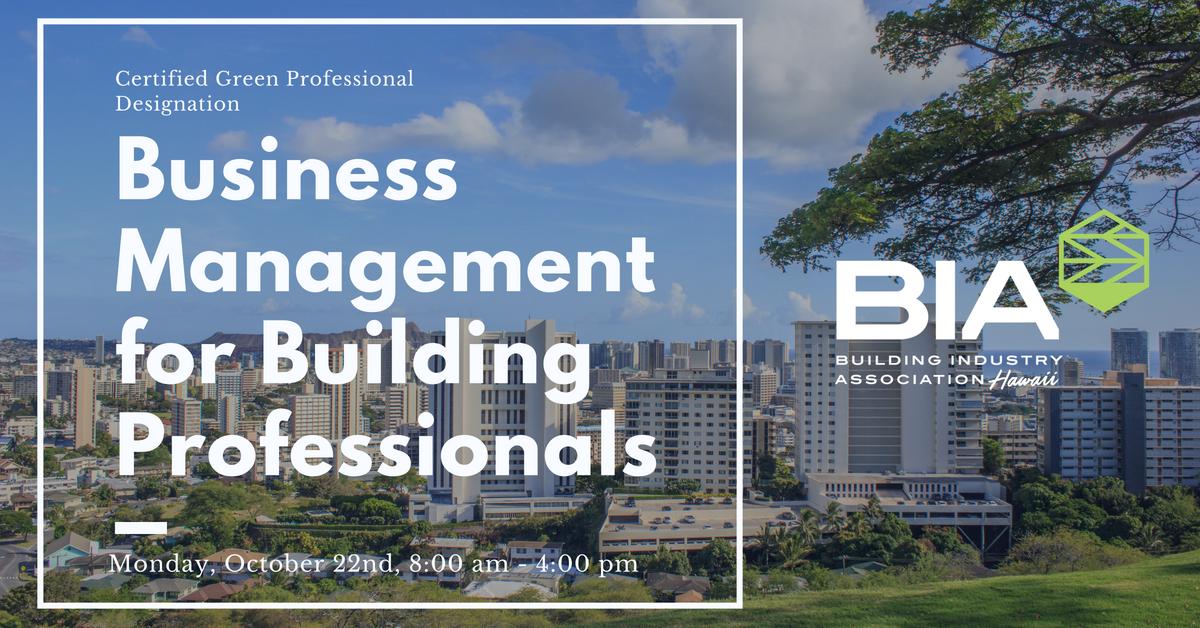 Business Management for Building Professionals NAHB Designation Course