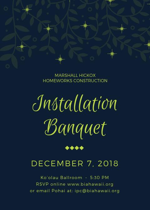 Installation Banquet BIA-Hawaii Marshall Hickox
