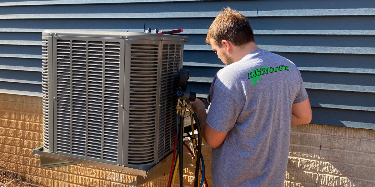 Etters HVAC working on system