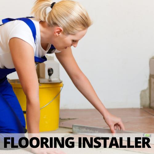 female leveling tile floor