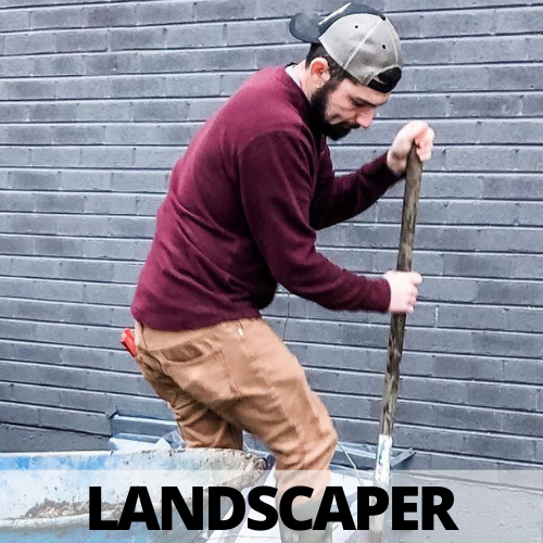 JRS Landscaping man digging hole