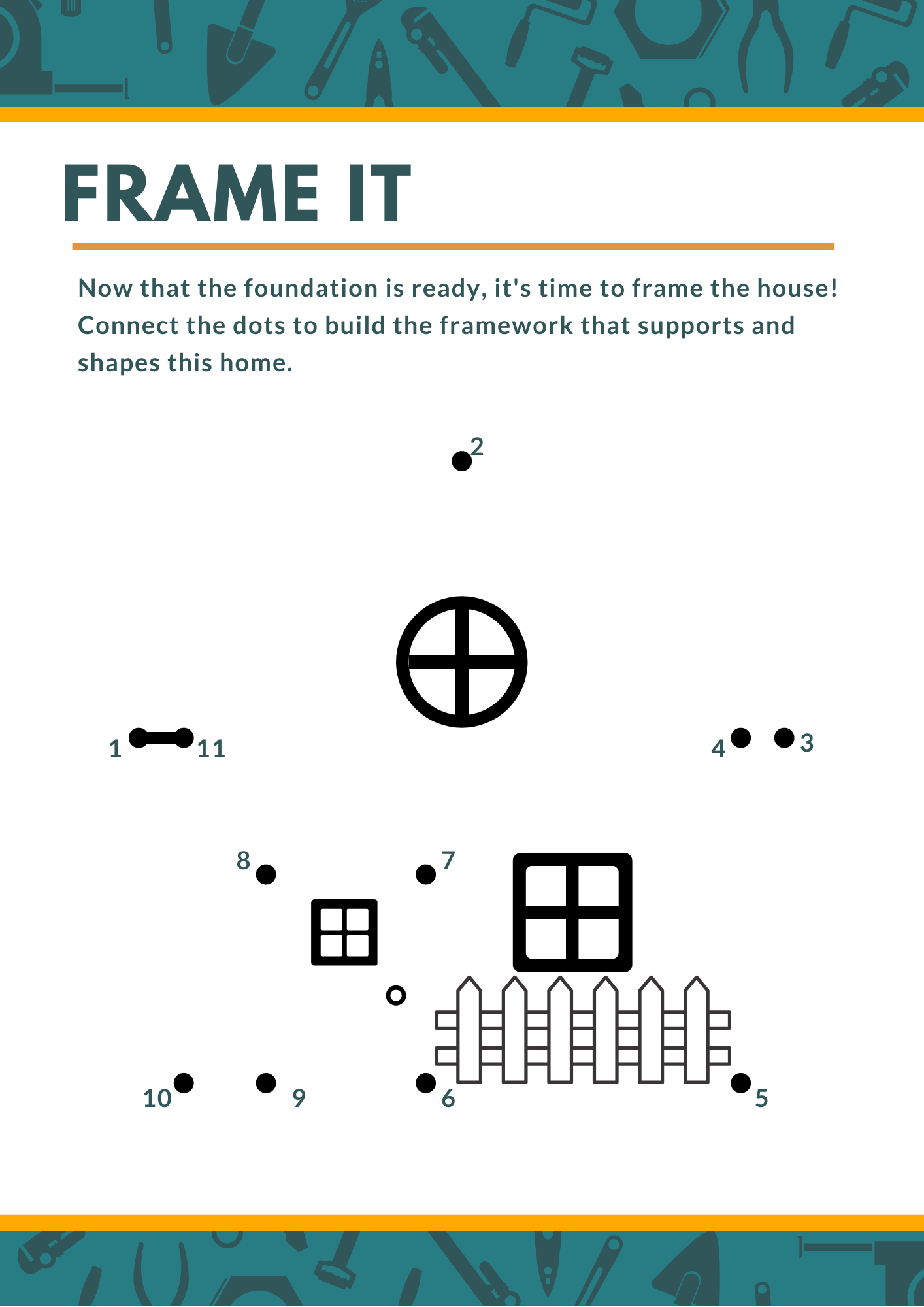 Frame it connect the dot activity page