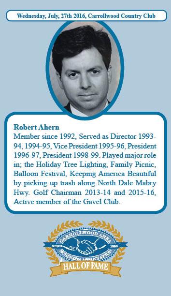 Robert Ahern Hall of Fame