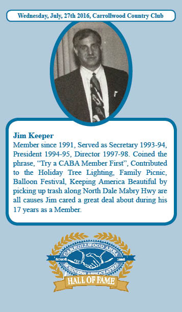 Jim Keeper Hall of Fame