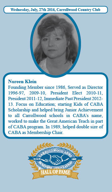 Noreen Klein Hall of Fame