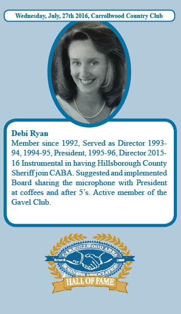 Debi Ryan Hall of Fame