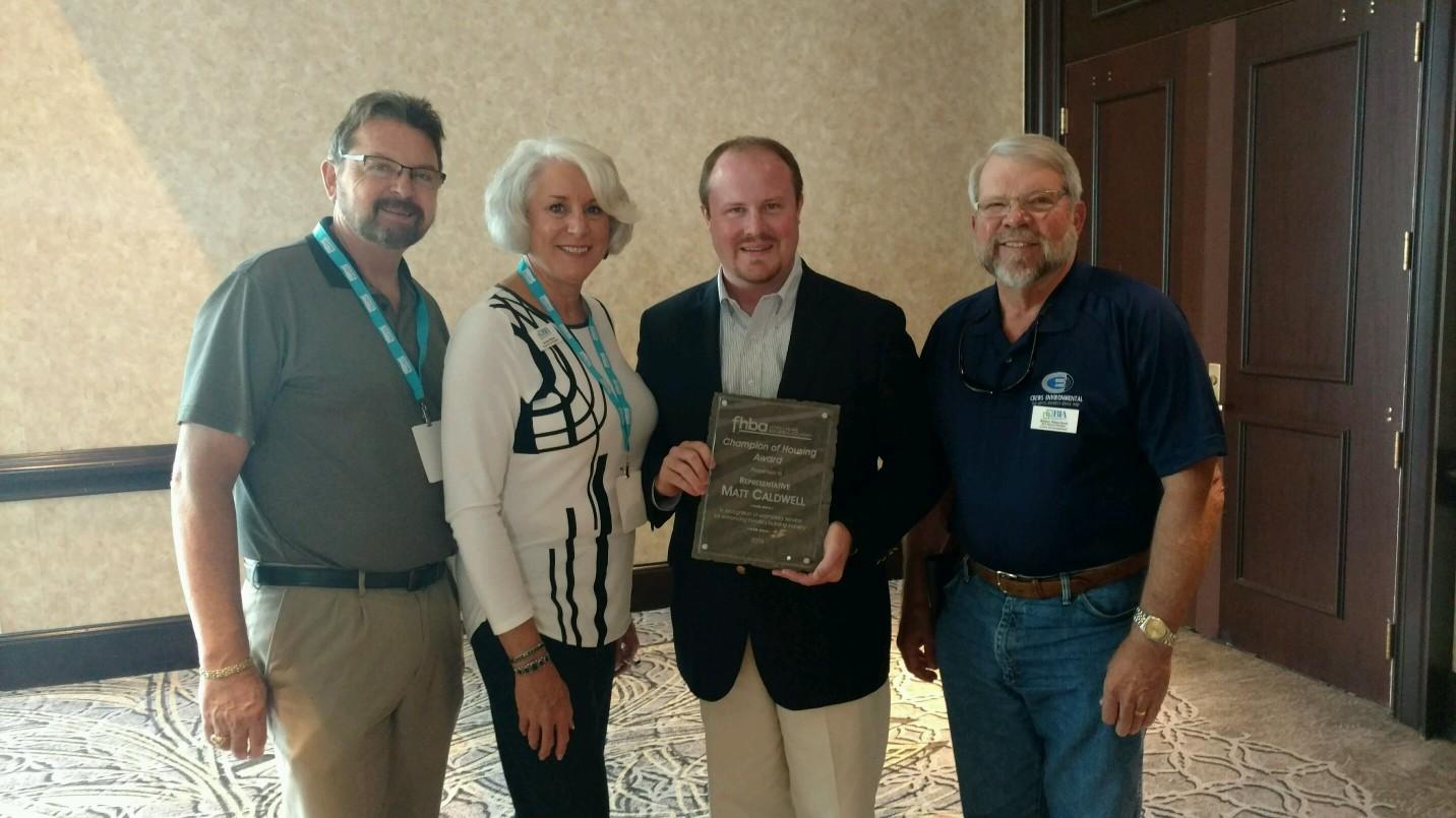 Housing-Award-with-Rep-Caldwell-2016-with Randy & Brenda Thomas and Robert Himschoot
