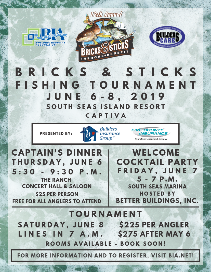 12th Annual Bricks & Sticks Fishing Tournament 2019 Captiva -
