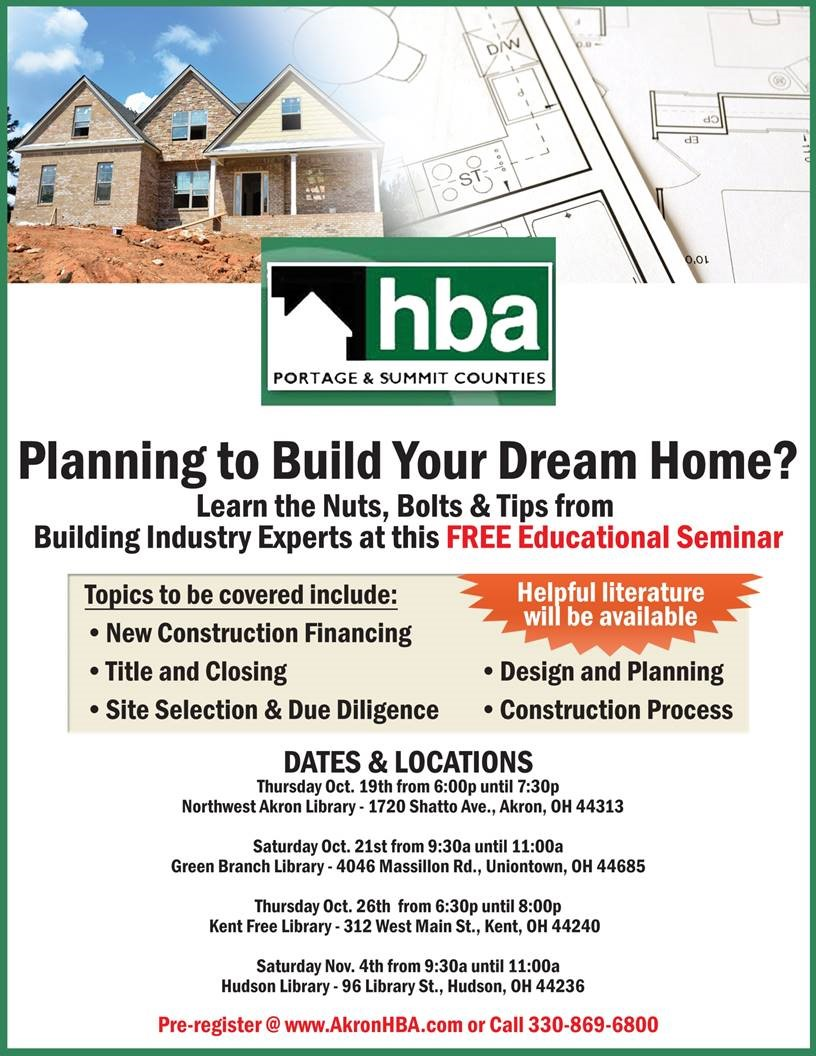 Planning to Build Your Dream Home Information