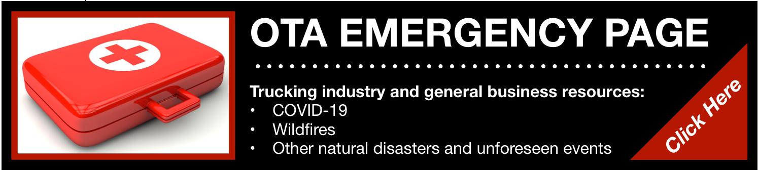 OTA Emergency Page for Trucking Industry and General Business Information Regarding COVID-19 and Wildfires