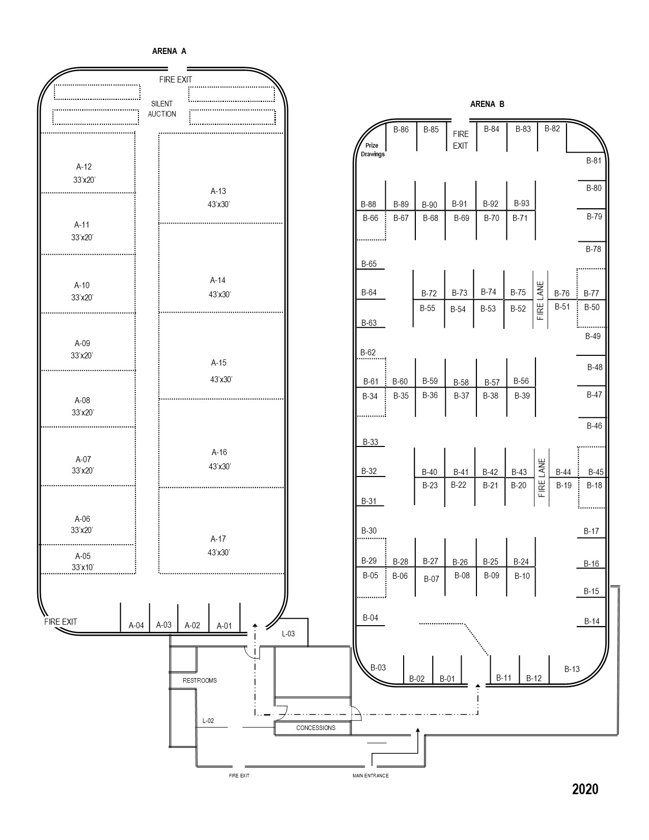 2020 Home & Sport Show Floor Plan Map