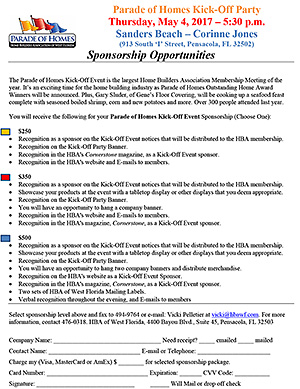 Parade of Homes Sponsorship Opportunities
