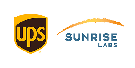 UPS and Sunrise Labs logos for Sept 2017 BTMT