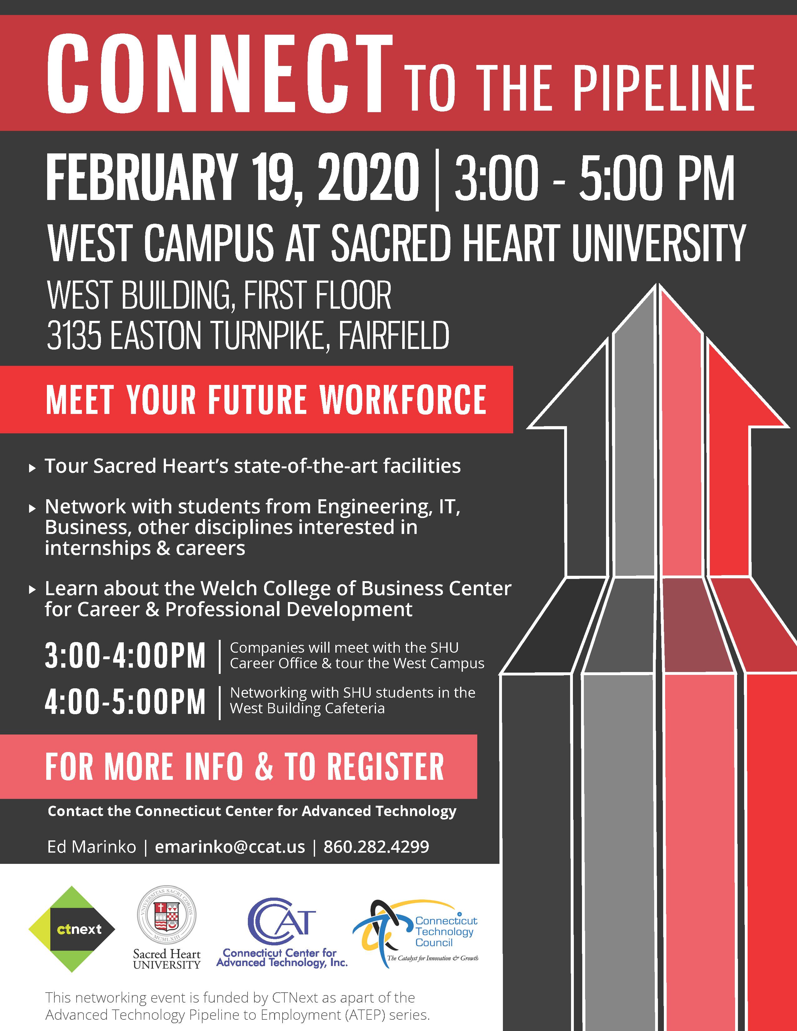 Meet your Future Workforce at Sacred Heart University Feb. 19, 2020