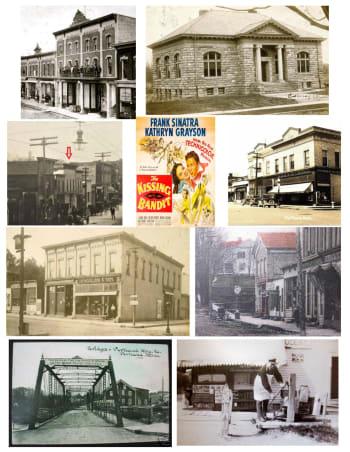 Opera House, Carnegie Library, Sun Theater, Kramer, Bridge Street, Veterans Memorial Bridge, Town Pump, Portland MI