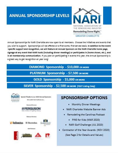 Annual Sponsorships